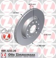 Zimmermann COAT Z Bremsscheibe