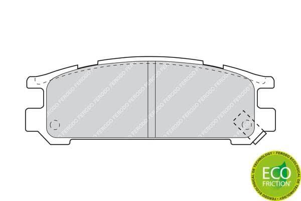 Scheibenbremse FERODO FDB790 Bremsbelagsatz