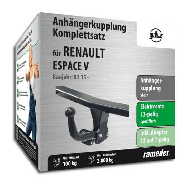 13pol spezifisch E-Satz Anhängekupplung AHK Für Renault Espace IV 02-15 starr