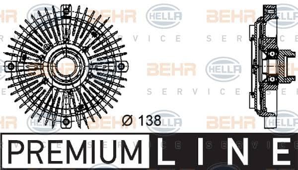 Kupplung Kühlerlüfter HELLA 8MV 376 732-231