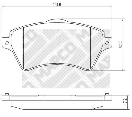 Scheibenbremse DELPHI LP1652 Bremsbelagsatz
